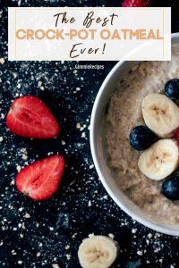 Crock-Pot Oatmeal Recipe (Slow Cooker Recipes)