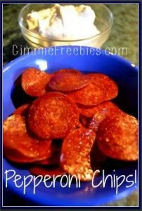 Baked Low Carb Keto Pepperoni Chips Recipe