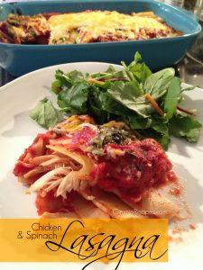 Quick & Easy Chicken & Spinach Lasagna Recipe