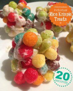 Single-Serve Rice Krispie Treats Recipe {Ready in 20 Seconds!}