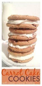 Soft Carrot Cake Cookie Recipe with Cream Cheese Frosting