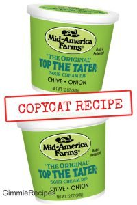 Top the Tater Copycat Recipe - Sour Cream & Chives