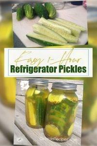 Easy Sugar-Free Refrigerator Pickles Recipe {1 Hour}