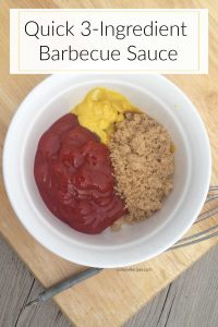 QUICK 3-Ingredient Barbecue Sauce (So GOOD...You'll Never Use Store-Bought BBQ Again!)